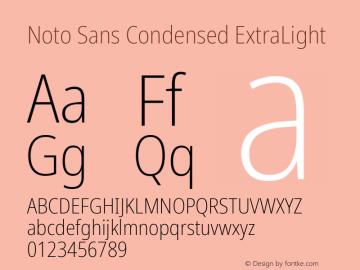 Noto Sans Condensed ExtraLight Version 2.004; ttfautohint (v1.8.3) -l 8 -r 50 -G 200 -x 14 -D latn -f none -a qsq -X