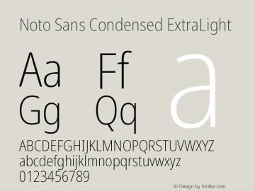 Noto Sans Condensed ExtraLight Version 2.004图片样张