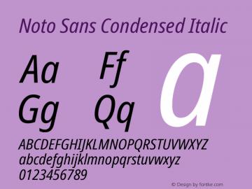 Noto Sans Condensed Italic Version 2.004图片样张