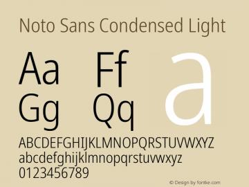 Noto Sans Condensed Light Version 2.004; ttfautohint (v1.8.3) -l 8 -r 50 -G 200 -x 14 -D latn -f none -a qsq -X