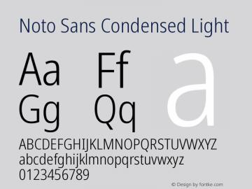 Noto Sans Condensed Light Version 2.004图片样张
