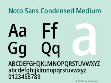 Noto Sans Condensed Medium Version 2.004图片样张