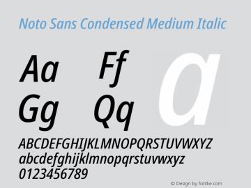 Noto Sans Condensed Medium Italic Version 2.004图片样张
