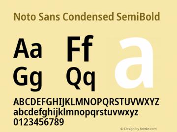 Noto Sans Condensed SemiBold Version 2.004; ttfautohint (v1.8.3) -l 8 -r 50 -G 200 -x 14 -D latn -f none -a qsq -X