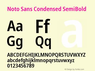 Noto Sans Condensed SemiBold Version 2.004图片样张
