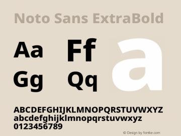 Noto Sans ExtraBold Version 2.004图片样张