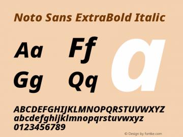 Noto Sans ExtraBold Italic Version 2.004; ttfautohint (v1.8.3) -l 8 -r 50 -G 200 -x 14 -D latn -f none -a qsq -X