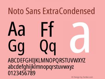Noto Sans ExtraCondensed Version 2.004图片样张