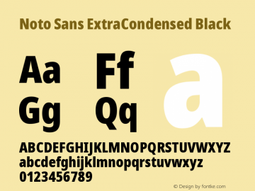 Noto Sans ExtraCondensed Black Version 2.004图片样张