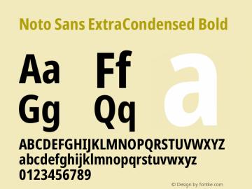 Noto Sans ExtraCondensed Bold Version 2.004图片样张