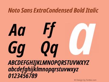Noto Sans ExtraCondensed Bold Italic Version 2.004图片样张