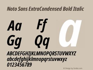 Noto Sans ExtraCondensed Bold Italic Version 2.004; ttfautohint (v1.8.3) -l 8 -r 50 -G 200 -x 14 -D latn -f none -a qsq -X