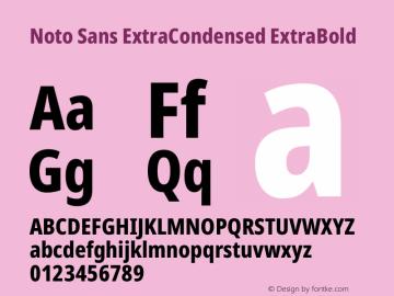 Noto Sans ExtraCondensed ExtraBold Version 2.004图片样张