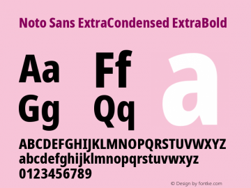 Noto Sans ExtraCondensed ExtraBold Version 2.004; ttfautohint (v1.8.3) -l 8 -r 50 -G 200 -x 14 -D latn -f none -a qsq -X