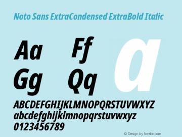 Noto Sans ExtraCondensed ExtraBold Italic Version 2.004图片样张