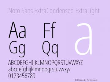 Noto Sans ExtraCondensed ExtraLight Version 2.004; ttfautohint (v1.8.3) -l 8 -r 50 -G 200 -x 14 -D latn -f none -a qsq -X