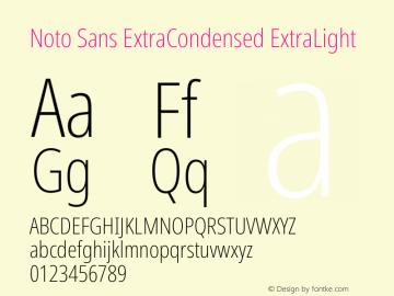 Noto Sans ExtraCondensed ExtraLight Version 2.004图片样张