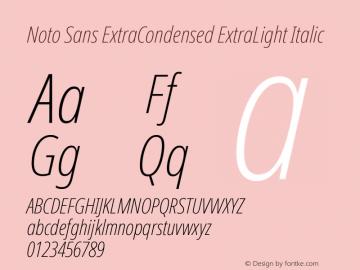 Noto Sans ExtraCondensed ExtraLight Italic Version 2.004; ttfautohint (v1.8.3) -l 8 -r 50 -G 200 -x 14 -D latn -f none -a qsq -X