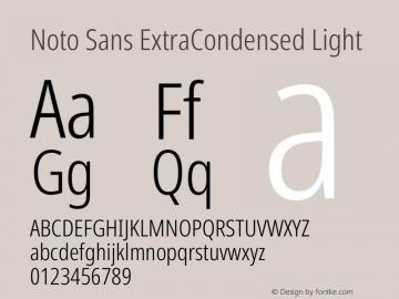 Noto Sans ExtraCondensed Light Version 2.004图片样张