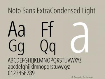 Noto Sans ExtraCondensed Light Version 2.004; ttfautohint (v1.8.3) -l 8 -r 50 -G 200 -x 14 -D latn -f none -a qsq -X
