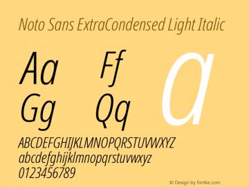 Noto Sans ExtraCondensed Light Italic Version 2.004图片样张