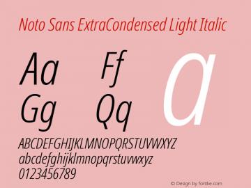 Noto Sans ExtraCondensed Light Italic Version 2.004; ttfautohint (v1.8.3) -l 8 -r 50 -G 200 -x 14 -D latn -f none -a qsq -X