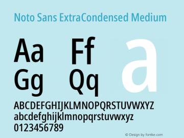 Noto Sans ExtraCondensed Medium Version 2.004; ttfautohint (v1.8.3) -l 8 -r 50 -G 200 -x 14 -D latn -f none -a qsq -X