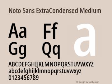 Noto Sans ExtraCondensed Medium Version 2.004图片样张