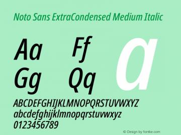 Noto Sans ExtraCondensed Medium Italic Version 2.004图片样张