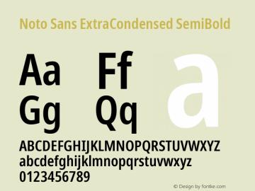 Noto Sans ExtraCondensed SemiBold Version 2.004; ttfautohint (v1.8.3) -l 8 -r 50 -G 200 -x 14 -D latn -f none -a qsq -X