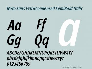 Noto Sans ExtraCondensed SemiBold Italic Version 2.004; ttfautohint (v1.8.3) -l 8 -r 50 -G 200 -x 14 -D latn -f none -a qsq -X