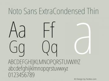 Noto Sans ExtraCondensed Thin Version 2.004图片样张