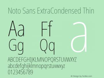 Noto Sans ExtraCondensed Thin Version 2.004; ttfautohint (v1.8.3) -l 8 -r 50 -G 200 -x 14 -D latn -f none -a qsq -X