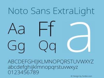 Noto Sans ExtraLight Version 2.004图片样张