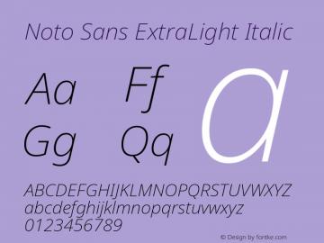 Noto Sans ExtraLight Italic Version 2.004图片样张