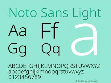 Noto Sans Light Version 2.004图片样张