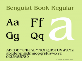 Benguiat Book Regular 001.000 Font Sample