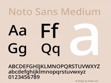 Noto Sans Medium Version 2.004图片样张