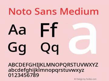 Noto Sans Medium Version 2.004; ttfautohint (v1.8.3) -l 8 -r 50 -G 200 -x 14 -D latn -f none -a qsq -X