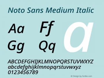 Noto Sans Medium Italic Version 2.004图片样张