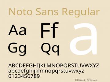 Noto Sans Regular Version 2.004图片样张