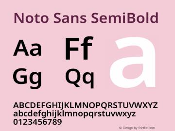 Noto Sans SemiBold Version 2.004图片样张