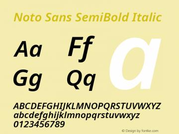 Noto Sans SemiBold Italic Version 2.004; ttfautohint (v1.8.3) -l 8 -r 50 -G 200 -x 14 -D latn -f none -a qsq -X