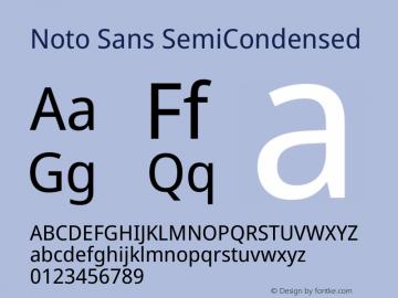 Noto Sans SemiCondensed Version 2.004图片样张