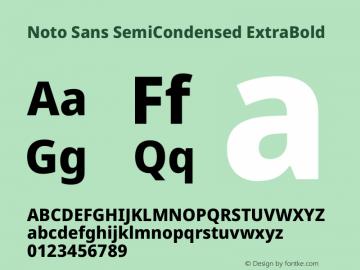 Noto Sans SemiCondensed ExtraBold Version 2.004图片样张