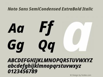 Noto Sans SemiCondensed ExtraBold Italic Version 2.004; ttfautohint (v1.8.3) -l 8 -r 50 -G 200 -x 14 -D latn -f none -a qsq -X