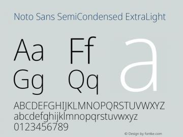Noto Sans SemiCondensed ExtraLight Version 2.004图片样张
