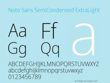 Noto Sans SemiCondensed ExtraLight Version 2.004; ttfautohint (v1.8.3) -l 8 -r 50 -G 200 -x 14 -D latn -f none -a qsq -X
