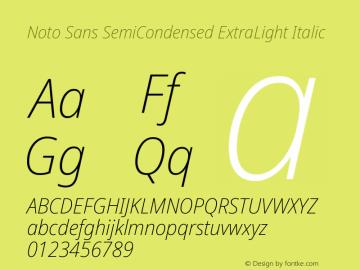 Noto Sans SemiCondensed ExtraLight Italic Version 2.004; ttfautohint (v1.8.3) -l 8 -r 50 -G 200 -x 14 -D latn -f none -a qsq -X