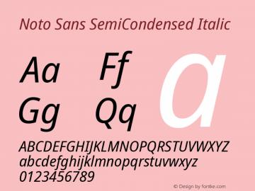 Noto Sans SemiCondensed Italic Version 2.004; ttfautohint (v1.8.3) -l 8 -r 50 -G 200 -x 14 -D latn -f none -a qsq -X
